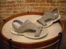 Ryka Banyon Gray T-Strap Sporty Backstrap Sandal NEW