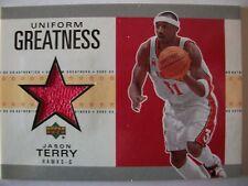 02-03 UD Authentics Uniform Greatness JASON TERRY , HAWKS, BOX # 46