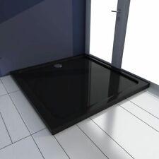 Douchebak vierkant ABS zwart 90 x 90 cm douche bak bodem inbouw douchebodem
