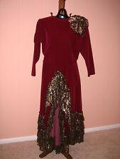 Women's Seniorita Costume Medium Spanish Fancy Dress