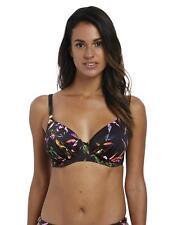 Fantasie Palawan Gathered Full Cup Bikini Top 6610 Underwired Swimwear Black