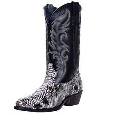 Laredo Western Boots Mens Monty Cowboy Faux Snake Black White 68067