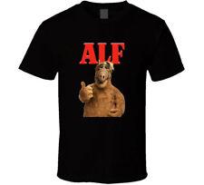 Alf Tv Show Retro T Shirt Mens Tee Gift Tasty Cat Ufo Comedy Series Alien New