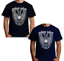 Velocitee Mens T-Shirt V8 Speed Shop Skull Hotrod Muscle Car Rockabilly A22514