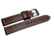 Uhrenarmband - Sattelleder - massives Leder - dunkelbraun - 18,20,22,24 mm