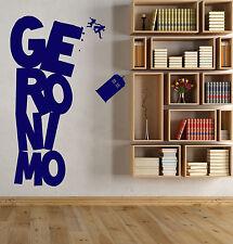 Vinyl Wall Decal Cinema Doctor Who Series Tardis Geronimo Stickers (1570ig)