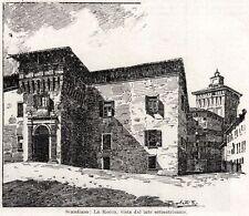 SCANDIANO: La Rocca dei Boiardo. Reggio Emilia. Emilia Romagna.Passepartout.1901
