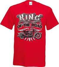 T-Shirt nei toni del rosso HD Chopper Biker - & vecchia Schooldruck Modello