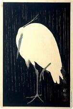 Koson Ohara Egret print canvas giclee 8X12&12X17 Japanes art poster reproduction