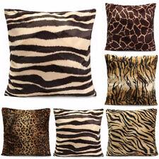 Leopard Animal Print Pattern Pillow Case Sofa Waist Throw Cushion Cover Home