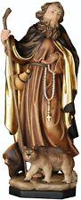 statue SAN REMEDIO AVEC OURS . Saint- remedio with BEAR bois statues