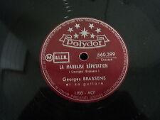 """@ GEORGES BRASSENS 78 TOURS rpm 10"""" FRANCE LA MAUVAISE REPUTATION"""