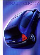 RENAULT CLIO 16V SALES BROCHURE MARCH 1999