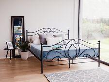 Designer Metall Bett schwarz mit Lattenrost Lattenrahmen Metallbett 160 180 x200