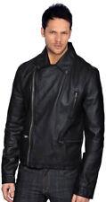 Handmade Men Soft Genuine Lamb Leather Jacket Slim FIT Black ZF 1586