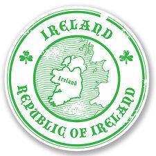 2 x Republic of Ireland Sticker Car Bike iPad Laptop Decal Travel Luggage #4223