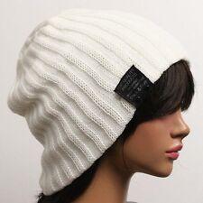 men's & women's Ribbed Beanie hat skull cap ski knit tq