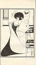 VINTAGE Art Nouveau Jugendstil stampa ~ Aubrey Beardsley DIE Toilette der Salome