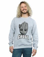 Marvel Hombre Guardians of the Galaxy Groot Face Camisa De Entrenamiento
