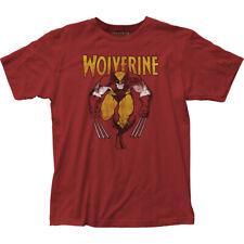 Marvel Comics Wolverine Red Licensed Adult T Shirt