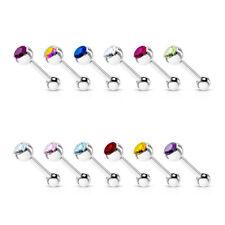 Zungenpiercing - Hantel Piercing 1,6mm 16mm Ferido Zirkonia Barbell Kristall