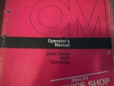 JOHN DEERE OPERATOR'S MANUAL 6601 COMBINE ISSUE I6