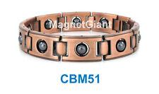 Men Copper link high power Magnetic Black Hematite Balls bracelet CBM51