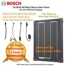 Bosch Plug-n-Power 10w 10 Watt Mono Solar Panel + $8 Adaptor 12v Battery RV Boat