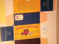 REPLIQUE BOITE POMPIER A CHEVAL SHAND MASON 1905 / MATCHBOX 1960