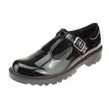 Geox Casey Patent T-Bar Girls Black Patent School Shoe size eu kids buckle