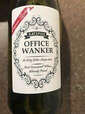Divertido Novedad Oficina calentando Vino Botella de vino etiquetas Broma Humor Santa Secreto