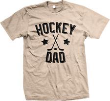 Hockey Dad Parent Father Daddy Child Kid Sticks Puck Team Coach My Men's T-Shirt