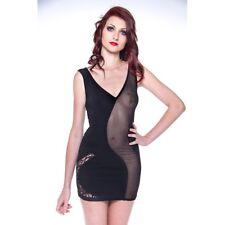 Robe courte sexy lycra et résille -50% référence Flavia de Patrice Cantazaro