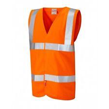 Leo Workwear Milford CLASSE 2 Arancione Ifl Hi Vis Gilet Maniche Lunghe