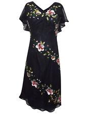 PER UNA M&S SEQUIN EMBELLISHED BLACK CHIFFON PARTY EVENING DRESS SIZE 8 10 12 #2