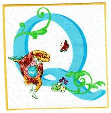 "2""-4.5"" Beatrix potter letter q frog alphabet monogram heat transfer iron on"