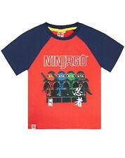Lego Ninjago Characters Boys Kids Red T-Shirt Top