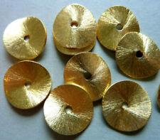 Metallperlen Scheiben gewellt gebogen gold gebürstet Zwischenteil 2910