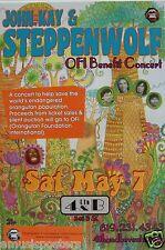 JOHN KAY & STEPPENWOLF 2011 SAN DIEGO CONCERT OFI BENEFIT TOUR POSTER