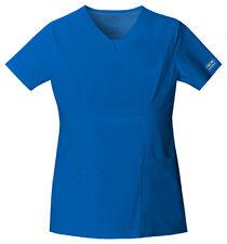 Cherokee Workwear Scrub Short Sleeve Top 24703 ROYW Royal Blue Free Shipping