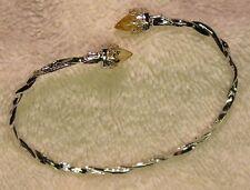 Sterling Silver Citrine Gem Bangle Bracelet