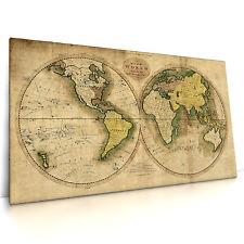 Antike Weltkarte 14.1301, Leinwand Bild auf Keilrahmen Poster Vintage Antik Alt