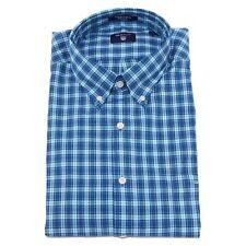 0216U camicia uomo GANT blu cotone blue multicolor shirt long sleeve cotton men