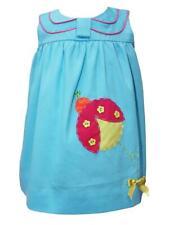 Fine Baby Girls Ladybug Applique Summer Turquoise Cotton Dress Birthday 17461