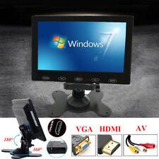 """7""""/9"""" LCD 800x480 HD CCTV PC Monitor AV/RCA/VGA/HDMI Car Monitor Gaming Monitor"""