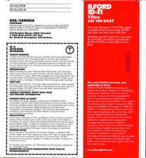 Révélateur film N&B ILFORD ID11 poudre, pour 1l