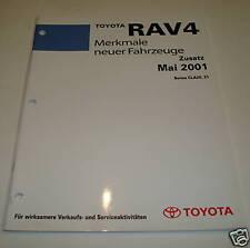 Werkstatthandbuch Toyota RAV4 / RAV 4 Merkmale neuer Fahrzeuge, Stand 05/2001