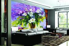 Papel Pintado Mural De Vellón Flor Tema Pintura al Óleo 3 Paisaje Fondo Pantalla