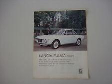 advertising Pubblicità 1967 LANCIA FULVIA COUPE'