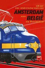 Vintage TRAIN européen d'Amsterdam en Belgique affiche d'impression A3